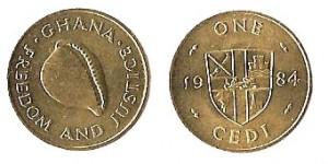 1 cedi 1979 in ottone Ghana