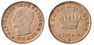 1 centesimo 1813 di Napoleone I re d'Italia, Milano (ex asta INASTA 54).JPG