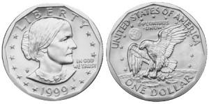 1 dollaro 1999 in lega di rame e nichel (8,1 g, 26,5 mm), Stati Uniti