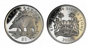 1 dollaro 2006 in rame e nichel (Stegosaurus), Sierra Leone
