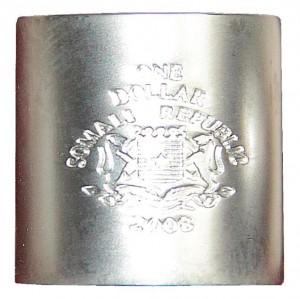 1 dollaro 2008 in argento (53 g, 21 mm, spessore 22 mm) Somalia