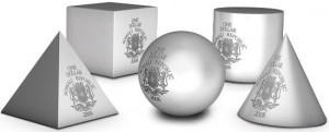 1 dollaro 2008 in argento Somalia, a forma geometrica