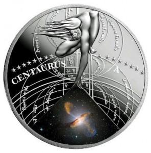 1 dollaro 2015 in argento (17,5 g) Niue, galassia Centaurus A