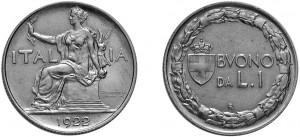 1 lira del 1922