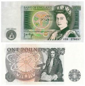 1 sterlina 1978 Gran Bretagna, Isaav Newton