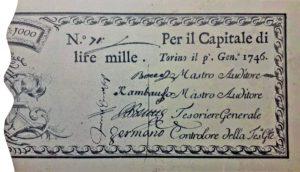 1. 1000 lire regie finanze