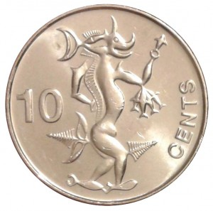 10 centesimi 2012 in acciaio placcato nichel (2,29 g), isole Salomone