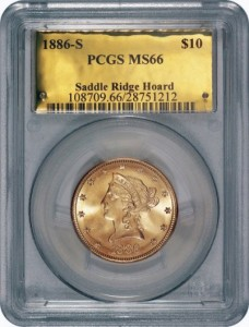 10 dollari 1886 Saddle Ridge Hoard (da theblaze.com)