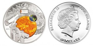 10 dollari 2013 in argento (nano space), isole Cook