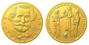 10 dollari 2013 in oro (15,56 g, 28 mm, 500 pezzi) isole Niue