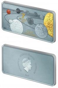 10 dollari 2014 in argento (31.1 g) isole Salomone, il sistema solare