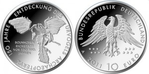 10 euro 2011 in argento (Archaeopteryx), Germania 16 g