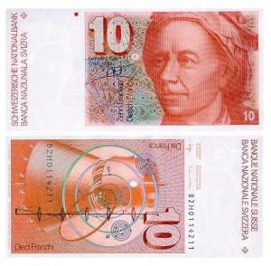 10 franchi 1982 Svizzera, Eulero e il sistema solare