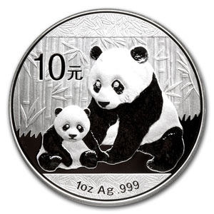 10 yuan 2012 in argento, 1 oncia