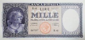 10. 1000 lire busto d'italia testina