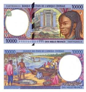 10.000 franchi CFA 1994 - codice ISO XAF