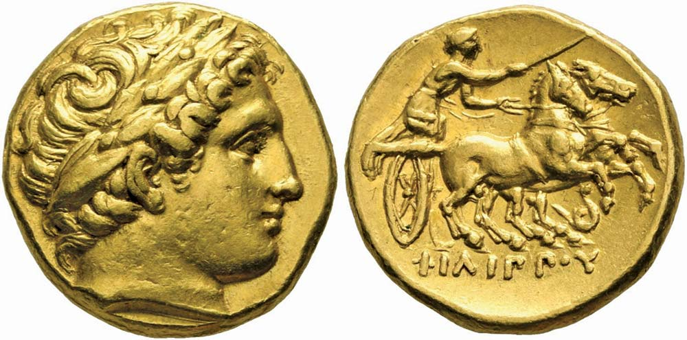 103. Macedonia, Filippo II (359-336 a.C.), statere coniato a Lampsaco, nella Misia, ex Leu, Zurigo 2003