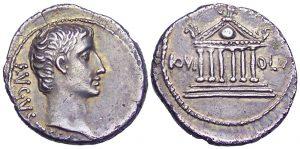 Denario in argento coniato da Augusto