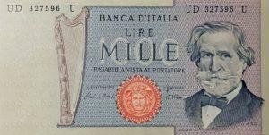 11. 1000 lire verdi 2 tipo fronte