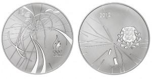 12 euro 2012 in argento (28,28 g) Estonia, XXX Giochi Olimpici Londra
