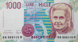 12. 1000 lire montessori