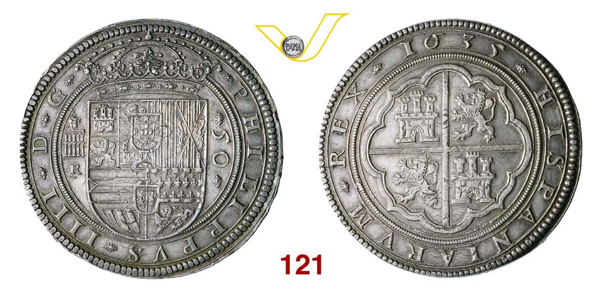 SPAGNA FILIPPO IV (1621-1665) 50 Reales o Cinquentin, 1635