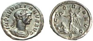 Denario coniato a Roma