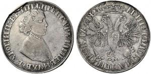 Rublo datato 1704 dello zar Pietro I