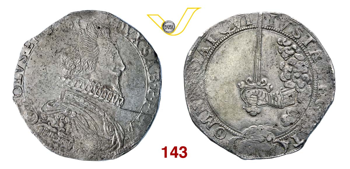 """CARLO EMANUELE I (1580-1630) Scudo s.d., di II tipo, detto """"Spadino"""","""