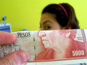 5000 pesos Cile, illusione di prospettiva