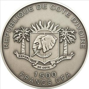 Costa d'Avorio 1500 franchi