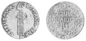 2 baiocchi Repubblica Romana