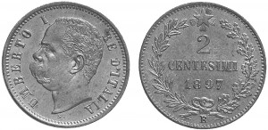 2 centesimi 1897