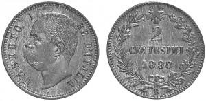 2 centesimi 1898