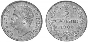 2 centesimi 1900