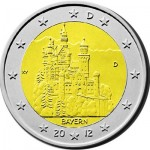 2 euro 2012 Germania,  castello di Neuschwanstein