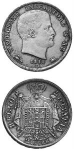 2 lire 1813 Bologna puntali sagomati.