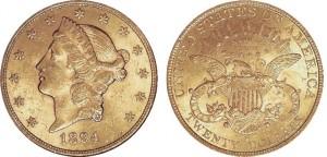 20 dollari 1894 in oro con motto (tipo III 1877-1907), San Francisco (da ngccoin.com)