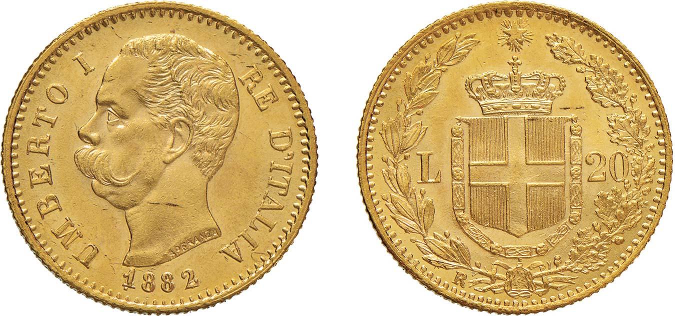 20 lire 1882 Umberto I