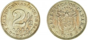 2,5 centesimos in cupronickel del 1918 (ingr., foto riprodotta per gentile concessione della Heritage Numismatic Auctions Inc.).
