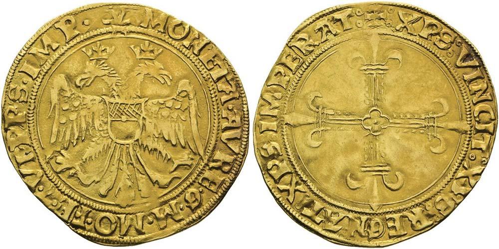2589. Casale, Guglielmo II Paleologo (1494-1518), scudo d'oro.