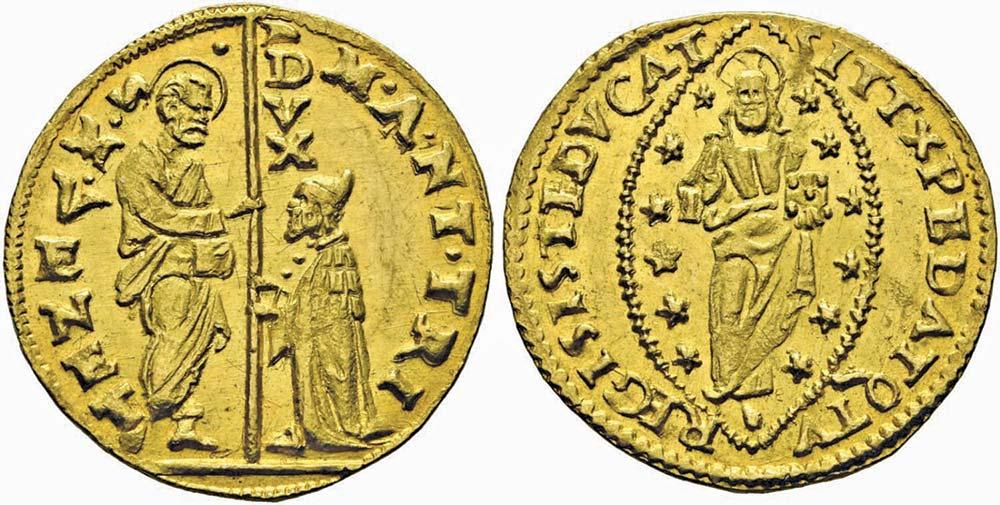 2604. Venezia, Marc'Antonio Trevisan (1553-1554), zecchino. Conservazione eccezionale.