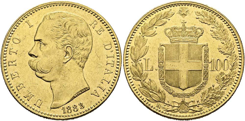 2615. Regno d'Italia, Umberto I (1878-1900), 100 lire 1883.