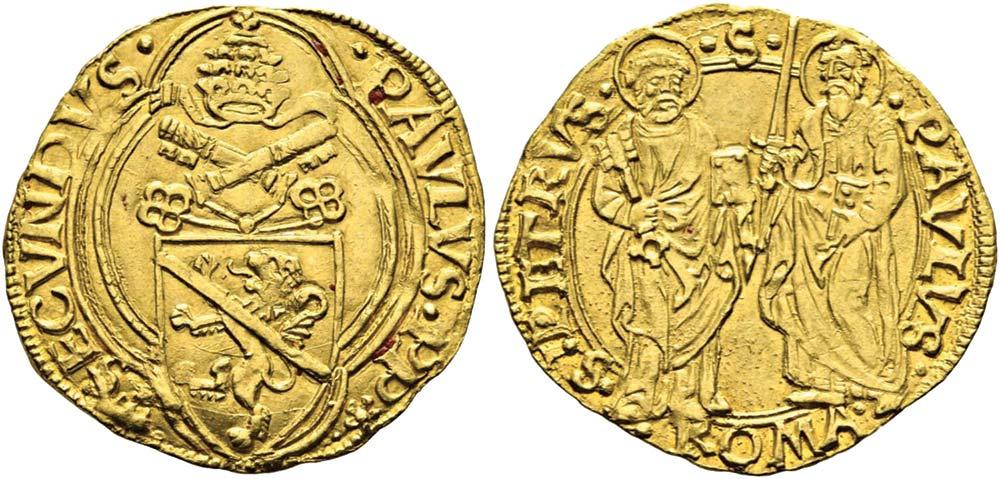 2622. Stato Pontificio, Paolo II (1464-1471), ducato.