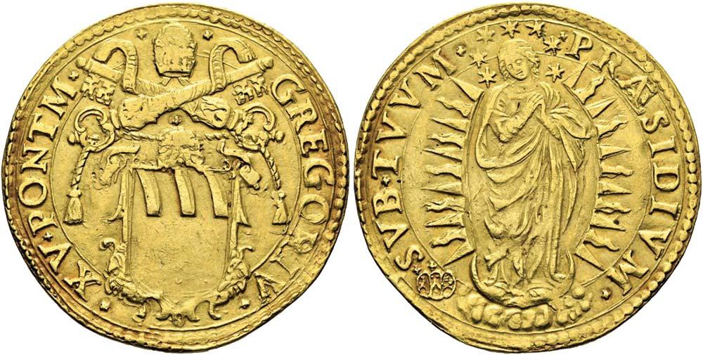 2624. Stato Pontificio, Gregorio XV (1621-1623), quadrupla.