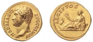Aureo del 136 d.C.