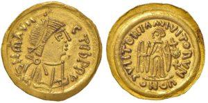 Maurizio Tiberio (582-602) - Tremisse