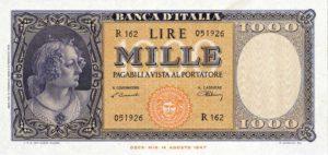 000 lire, 1947.