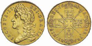 5 ghinee 1688 di Giacomo II (ex Sovereign Rarities 2)