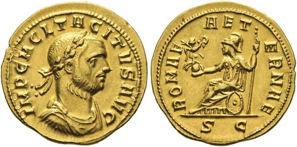 417. Tacito (275-276), aureo coniato a Serdica.